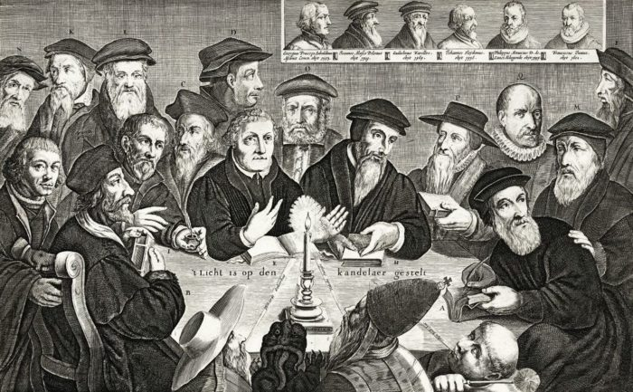 17th c. engraving of the major Protestant Reformers